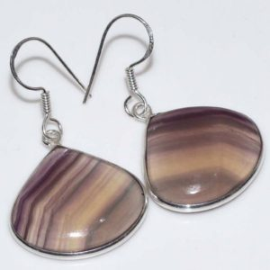 Shop Fluorite Earrings! Special Sale, Very Beautiful Fluorite Earrings, 925 Silver, One of a Kind | Natural genuine Fluorite earrings. Buy crystal jewelry, handmade handcrafted artisan jewelry for women.  Unique handmade gift ideas. #jewelry #beadedearrings #beadedjewelry #gift #shopping #handmadejewelry #fashion #style #product #earrings #affiliate #ad