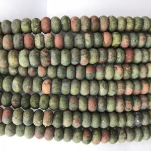 Shop Unakite Rondelle Beads! Genuine Matte Unakite 6mm – 8mm Rondelle Natural Loose Green Pink Unikite Gemstone Beads 15 inch Jewelry  Bracelet Necklace Material Supply | Natural genuine rondelle Unakite beads for beading and jewelry making.  #jewelry #beads #beadedjewelry #diyjewelry #jewelrymaking #beadstore #beading #affiliate #ad