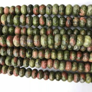 Shop Unakite Rondelle Beads! Genuine Unakite 6mm – 8mm Rondelle Natural Loose Green Pink Unikite Gemstone Beads 15 inch Jewelry Supply Bracelet Necklace Material Support | Natural genuine rondelle Unakite beads for beading and jewelry making.  #jewelry #beads #beadedjewelry #diyjewelry #jewelrymaking #beadstore #beading #affiliate #ad