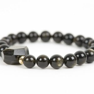 Shop Golden Obsidian Bracelets! Golden Obsidian Natural Gemstone Bracelet, Handmade Gemstone Jewelry, Handmade Jewelry | Natural genuine Golden Obsidian bracelets. Buy crystal jewelry, handmade handcrafted artisan jewelry for women.  Unique handmade gift ideas. #jewelry #beadedbracelets #beadedjewelry #gift #shopping #handmadejewelry #fashion #style #product #bracelets #affiliate #ad
