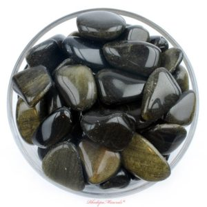Shop Golden Obsidian Stones & Crystals! RARE! One 1 Gold Sheen Obsidian Tumbled Stone, Gold Sheen Obsidian Tumbled Stones, Healing Crystals, Healing Stones RhodopeMinerals | Natural genuine stones & crystals in various shapes & sizes. Buy raw cut, tumbled, or polished gemstones for making jewelry or crystal healing energy vibration raising reiki stones. #crystals #gemstones #crystalhealing #crystalsandgemstones #energyhealing #affiliate #ad