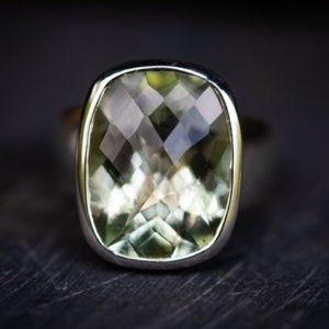 Shop Green Amethyst Rings! Green Quartz Ring 5 – Prasiolite Ring – Green Amethyst Ring – Green Quartz Ring Size 5 – Oval Cut Ring Oval Green Amethyst Ring – Praisiolit | Natural genuine Green Amethyst rings, simple unique handcrafted gemstone rings. #rings #jewelry #shopping #gift #handmade #fashion #style #affiliate #ad