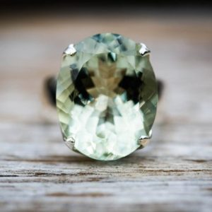 Shop Green Amethyst Rings! Green Quartz Ring 8 – Prasiolite Ring – Green Amethyst Ring – Green Quartz Ring Size 8 – Oval Cut Ring – Oval Green Amethyst Ring | Natural genuine Green Amethyst rings, simple unique handcrafted gemstone rings. #rings #jewelry #shopping #gift #handmade #fashion #style #affiliate #ad