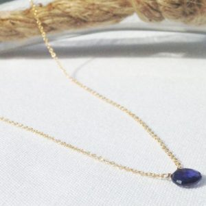 Shop Iolite Jewelry! Iolite necklace – Gold Filled iolite Necklace – September Birthstone – Blue Violet Birthstone | Natural genuine Iolite jewelry. Buy crystal jewelry, handmade handcrafted artisan jewelry for women.  Unique handmade gift ideas. #jewelry #beadedjewelry #beadedjewelry #gift #shopping #handmadejewelry #fashion #style #product #jewelry #affiliate #ad