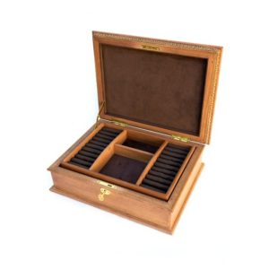 Shop Storage for Beading Supplies! Jewelry Box with Tray, Lock & Key, Jewelry organizer, Personalized jewelry box, Man's Jewelry box, Women's jewelry box, Wooden jewelry box | Shop jewelry making and beading supplies, tools & findings for DIY jewelry making and crafts. #jewelrymaking #diyjewelry #jewelrycrafts #jewelrysupplies #beading #affiliate #ad