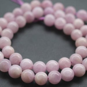 Shop Kunzite Beads! 8mm AA Kunzite Beads,Natural Smooth and Round Spodumene Beads,15 inches one starand | Natural genuine round Kunzite beads for beading and jewelry making.  #jewelry #beads #beadedjewelry #diyjewelry #jewelrymaking #beadstore #beading #affiliate #ad