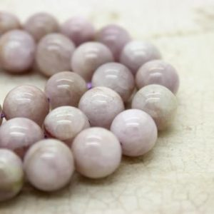 Kunzite Round Beads Natural Gemstone (9mm 11mm 13mm 14mm) | Natural genuine round Gemstone beads for beading and jewelry making.  #jewelry #beads #beadedjewelry #diyjewelry #jewelrymaking #beadstore #beading #affiliate #ad