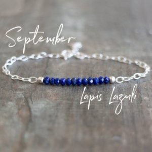 Shop Lapis Lazuli Bracelets! September Birthstone Bracelet, Lapis Lazuli Bracelet, Blue Lapis Jewelry, Beaded Gemstone Bracelet, September Birthday Gifts for Her | Natural genuine Lapis Lazuli bracelets. Buy crystal jewelry, handmade handcrafted artisan jewelry for women.  Unique handmade gift ideas. #jewelry #beadedbracelets #beadedjewelry #gift #shopping #handmadejewelry #fashion #style #product #bracelets #affiliate #ad