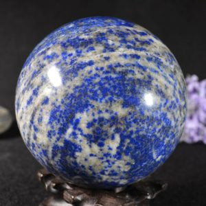 "Shop Lapis Lazuli Shapes! 3.54""Best Natural Large Lapis Lazuli Sphere/Lazuli Ball/ Lazuli Decoration/Energy Stone Ornaments/Healing stone of Lazuli Sphere-90mm#fh166 