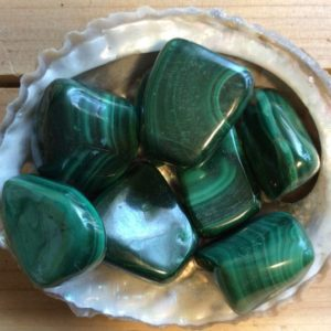 Malachite Tumbled Stone,Stone of Transformation, Protective Stone,Healing Stone, Spiritual Stone, Activates the Chakras | Natural genuine stones & crystals in various shapes & sizes. Buy raw cut, tumbled, or polished gemstones for making jewelry or crystal healing energy vibration raising reiki stones. #crystals #gemstones #crystalhealing #crystalsandgemstones #energyhealing #affiliate #ad