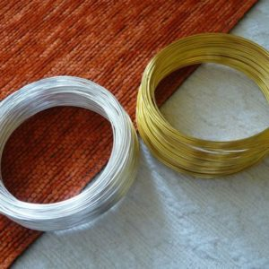 Shop Stringing Material for Jewelry Making! Memory Steel Wire, Bracelet Wire, Wire Bracelet, 0.6x55mm Gold and Silver Color Round Memory Steel Wire, Wire Wrap Bracelet, Beading Wire | Shop jewelry making and beading supplies, tools & findings for DIY jewelry making and crafts. #jewelrymaking #diyjewelry #jewelrycrafts #jewelrysupplies #beading #affiliate #ad