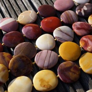 Shop Mookaite Beads! Mookaite 25-36mm Pebble Beads (etb00521) | Natural genuine chip Mookaite beads for beading and jewelry making.  #jewelry #beads #beadedjewelry #diyjewelry #jewelrymaking #beadstore #beading #affiliate #ad
