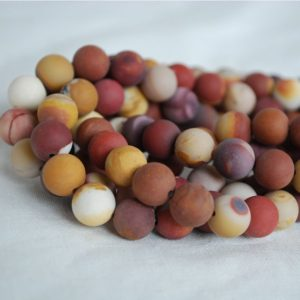 Shop Mookaite Jasper Round Beads! High Quality Grade A Natural Mookite / Mookaite Frosted / MATTE Semi-precious Gemstone Round Beads – 4mm, 6mm, 8mm, 10mm | Natural genuine round Mookaite Jasper beads for beading and jewelry making.  #jewelry #beads #beadedjewelry #diyjewelry #jewelrymaking #beadstore #beading #affiliate #ad
