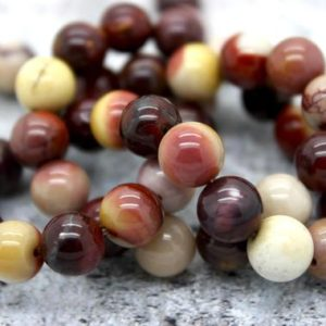 Nabural Mookaite Round Gemstone Beads (4mm 6mm 8mm 10mm 12mm) | Natural genuine round Mookaite beads for beading and jewelry making.  #jewelry #beads #beadedjewelry #diyjewelry #jewelrymaking #beadstore #beading #affiliate #ad