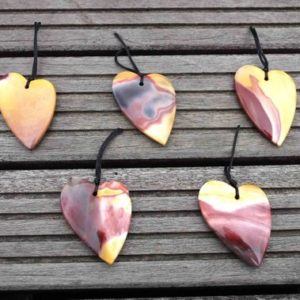 Mookaite heart shape pendant (ETP00132) Unique jewelry/Vintage jewelry/Gemstone pendants | Natural genuine other-shape Mookaite beads for beading and jewelry making.  #jewelry #beads #beadedjewelry #diyjewelry #jewelrymaking #beadstore #beading #affiliate #ad