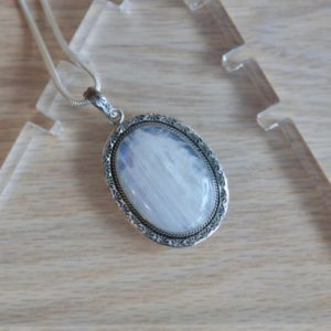 Shop Moonstone Pendants! Moonstone Oval Pendant // Moonstone Pendant // Moonstone Necklace // Oval // Sterling Silver // Rainbow Moonstone // Genuine Moonstone | Natural genuine Moonstone pendants. Buy crystal jewelry, handmade handcrafted artisan jewelry for women.  Unique handmade gift ideas. #jewelry #beadedpendants #beadedjewelry #gift #shopping #handmadejewelry #fashion #style #product #pendants #affiliate #ad