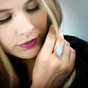 Shop Moonstone Rings! Rainbow moonstone ring,cocktail ring,gold ring,solid gold ring,June birthstone ring,Marquise ring | Natural genuine Moonstone rings, simple unique handcrafted gemstone rings. #rings #jewelry #shopping #gift #handmade #fashion #style #affiliate #ad