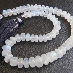 Shop Moonstone Rondelle Beads! 6-9mm Rainbow Moonstone Plain Rondelle Beads, Natural White Rainbow Beads, Plain Rondelle Beads For Jewelry (5IN To 10IN Options) – PUSDG3 | Natural genuine rondelle Moonstone beads for beading and jewelry making.  #jewelry #beads #beadedjewelry #diyjewelry #jewelrymaking #beadstore #beading #affiliate #ad