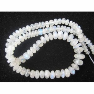 Shop Moonstone Rondelle Beads! Rainbow Moonstone Rondelle, White Rainbow Beads, 4mm To 12mm Beads, Rondelle Beads, 8 Inch Half Strand, 50 Pieces Approx | Natural genuine rondelle Moonstone beads for beading and jewelry making.  #jewelry #beads #beadedjewelry #diyjewelry #jewelrymaking #beadstore #beading #affiliate #ad