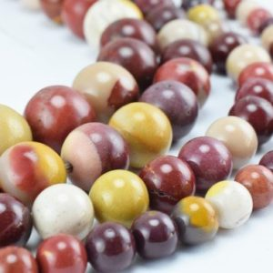Shop Mookaite Jasper Round Beads! Natural Mookaite Jasper Gemstone Beads, Gemstone Round 6mm,8mm,10mm,12mm Natural Stones Beads Healing stone chakra stones for Jewelry Making | Natural genuine round Mookaite Jasper beads for beading and jewelry making.  #jewelry #beads #beadedjewelry #diyjewelry #jewelrymaking #beadstore #beading #affiliate #ad