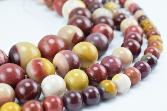 Natural Mookaite Jasper Gemstone Beads, Gemstone Round 6mm,8mm,10mm,12mm Natural Stones Beads Healing Stone Chakra Stones For Jewelry Making