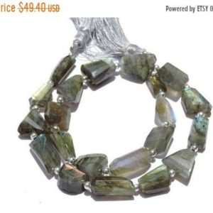 Shop Labradorite Chip & Nugget Beads! Summer Sale 12 Inches Long Strand Natural Flashy Fire Labradorite Faceted Nugget Beads Labradorite Tumbles Size 18X7 – 11X7 MM | Natural genuine chip Labradorite beads for beading and jewelry making.  #jewelry #beads #beadedjewelry #diyjewelry #jewelrymaking #beadstore #beading #affiliate #ad