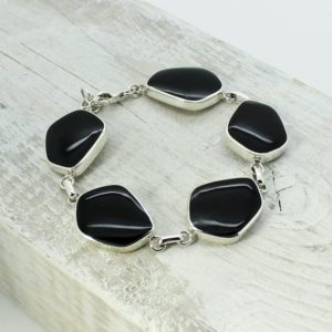 Shop Obsidian Bracelets! Black Obsidian bracelet made of 925 sterling silver and natural Black Obsidian stone jewelry bracelet with black natural stones gorgeous | Natural genuine Obsidian bracelets. Buy crystal jewelry, handmade handcrafted artisan jewelry for women.  Unique handmade gift ideas. #jewelry #beadedbracelets #beadedjewelry #gift #shopping #handmadejewelry #fashion #style #product #bracelets #affiliate #ad