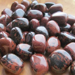 Shop Tumbled Obsidian Crystals & Pocket Stones! Mahogany Obsidian Medium Tumbled Stone T57 | Natural genuine stones & crystals in various shapes & sizes. Buy raw cut, tumbled, or polished gemstones for making jewelry or crystal healing energy vibration raising reiki stones. #crystals #gemstones #crystalhealing #crystalsandgemstones #energyhealing #affiliate #ad