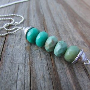 Shop Opal Pendants! Green Opal Necklace, Simple, Green Moss Opal, Stacked Gemstone Pendant | Natural genuine Opal pendants. Buy crystal jewelry, handmade handcrafted artisan jewelry for women.  Unique handmade gift ideas. #jewelry #beadedpendants #beadedjewelry #gift #shopping #handmadejewelry #fashion #style #product #pendants #affiliate #ad