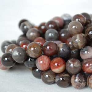 "Shop Petrified Wood Beads! High Quality Grade A Natural Petrified Wood Agate Semi-precious Gemstone Round Beads – 4mm, 6mm, 8mm, 10mm Sizes – Approx 16"" Strand 