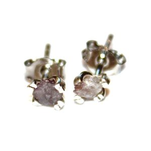 Pink Diamonds Raw Diamond Earrings Rough Diamond Studs Real Diamond Jewelry Tiny Earrings Small Earrings Natural Diamond Modern Jewelry | Natural genuine Gemstone earrings. Buy crystal jewelry, handmade handcrafted artisan jewelry for women.  Unique handmade gift ideas. #jewelry #beadedearrings #beadedjewelry #gift #shopping #handmadejewelry #fashion #style #product #earrings #affiliate #ad