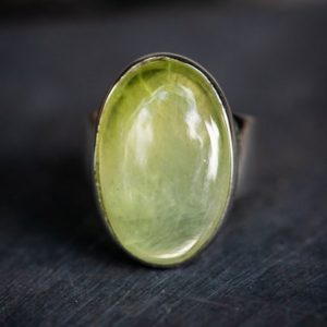 Shop Prehnite Rings! Prehnite Cabochon Ring size 6.5 – Prehnite Ring – Prehnite Cabochon Ring size 6.5 – Stunning Prehnite Ring Natural Prehnite Ring – Prehnite | Natural genuine Prehnite rings, simple unique handcrafted gemstone rings. #rings #jewelry #shopping #gift #handmade #fashion #style #affiliate #ad