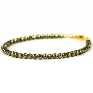 Shop Pyrite Jewelry! Pyrite Bracelet, Golden Accent Bracelet, Gold Pyrite Bracelet, Gemstone Bracelet, Handmade Jewelry, Gemstone Jewelry, unique-gift-for-wife | Natural genuine Pyrite jewelry. Buy crystal jewelry, handmade handcrafted artisan jewelry for women.  Unique handmade gift ideas. #jewelry #beadedjewelry #beadedjewelry #gift #shopping #handmadejewelry #fashion #style #product #jewelry #affiliate #ad