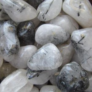 Tourmalinated Quartz Medium Tumbled Stone N88 | Natural genuine stones & crystals in various shapes & sizes. Buy raw cut, tumbled, or polished gemstones for making jewelry or crystal healing energy vibration raising reiki stones. #crystals #gemstones #crystalhealing #crystalsandgemstones #energyhealing #affiliate #ad