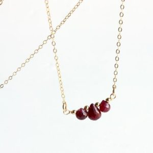 Shop Ruby Necklaces! Ruby Bar Necklace, Goldfilled wire wrap, pinkish red gemstones, dainty choker, layering, July birthstone, Christmas holiday gift, 5118 | Natural genuine Ruby necklaces. Buy crystal jewelry, handmade handcrafted artisan jewelry for women.  Unique handmade gift ideas. #jewelry #beadednecklaces #beadedjewelry #gift #shopping #handmadejewelry #fashion #style #product #necklaces #affiliate #ad