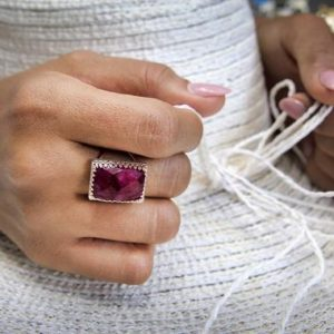 Shop Ruby Jewelry! Ruby ring,gemstone ring,rose gold ring,rose pink gold,semiprecious ring,precious stone ring,July birthstone ring | Natural genuine Ruby jewelry. Buy crystal jewelry, handmade handcrafted artisan jewelry for women.  Unique handmade gift ideas. #jewelry #beadedjewelry #beadedjewelry #gift #shopping #handmadejewelry #fashion #style #product #jewelry #affiliate #ad