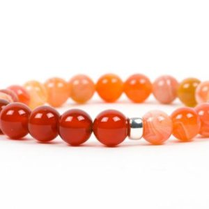 Shop Chakra Bracelets! Sacral Chakra Bracelet, Natural Carnelian Gemstone Bracelet, Gemstone Handmade Jewelry, unique-gift-for-wife | Shop jewelry making and beading supplies, tools & findings for DIY jewelry making and crafts. #jewelrymaking #diyjewelry #jewelrycrafts #jewelrysupplies #beading #affiliate #ad