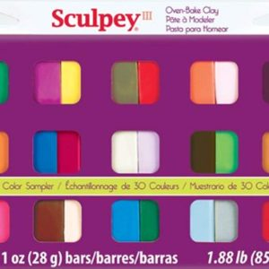 Shop Polymer Clay Jewelry Making Tools! Sculpey III Oven Bake Clay Sampler 1oz, 30/pkg | Shop jewelry making and beading supplies, tools & findings for DIY jewelry making and crafts. #jewelrymaking #diyjewelry #jewelrycrafts #jewelrysupplies #beading #affiliate #ad