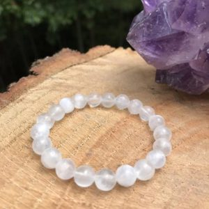 Selenite Bracelet | White Light | Serenity | Clarity | Peace | Spirituality | Chakra Healing | Taurus Zodiac | Harmony | Protection | Love | Natural genuine Gemstone bracelets. Buy crystal jewelry, handmade handcrafted artisan jewelry for women.  Unique handmade gift ideas. #jewelry #beadedbracelets #beadedjewelry #gift #shopping #handmadejewelry #fashion #style #product #bracelets #affiliate #ad