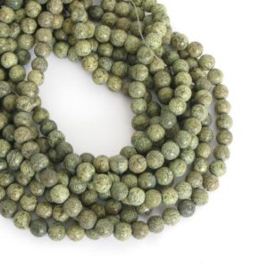 Shop Serpentine Beads! 8mm Round Russian Serpentine Beads, Round Gemstone Beads, Full Strand Serpentine, Ser209 | Natural genuine beads Serpentine beads for beading and jewelry making.  #jewelry #beads #beadedjewelry #diyjewelry #jewelrymaking #beadstore #beading #affiliate #ad