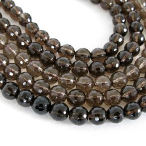 Shop Smoky Quartz Faceted Beads! 6mm Round Smoky Quartz Beads, 15 Beads, Smokey Quartz, Faceted Round 6mm Beads, Faceted Quartz Bead, Genuine Quartz Gemstone, Smoky200 | Natural genuine faceted Smoky Quartz beads for beading and jewelry making.  #jewelry #beads #beadedjewelry #diyjewelry #jewelrymaking #beadstore #beading #affiliate #ad