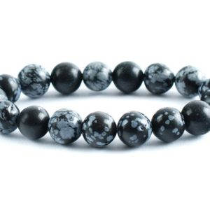 Shop Snowflake Obsidian Bracelets! Snowflake Obsidian Bracelet, Obsidian Bracelet, 10 mm Snowflake Obsidian Bead, Crystals Snowflake Obsidian, Minerals Snowflake Obsidian, Joy | Natural genuine Snowflake Obsidian bracelets. Buy crystal jewelry, handmade handcrafted artisan jewelry for women.  Unique handmade gift ideas. #jewelry #beadedbracelets #beadedjewelry #gift #shopping #handmadejewelry #fashion #style #product #bracelets #affiliate #ad