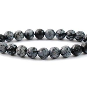 Shop Snowflake Obsidian Bracelets! Snowflake Obsidian Bracelet, Obsidian Bracelet, 8 mm Snowflake Obsidian Bead, Crystals Snowflake Obsidian, Minerals Snowflake Obsidian, Joy | Natural genuine Snowflake Obsidian bracelets. Buy crystal jewelry, handmade handcrafted artisan jewelry for women.  Unique handmade gift ideas. #jewelry #beadedbracelets #beadedjewelry #gift #shopping #handmadejewelry #fashion #style #product #bracelets #affiliate #ad