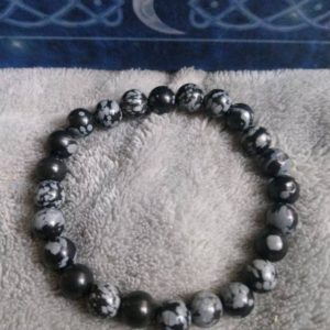 Shop Snowflake Obsidian Bracelets! Snowflake obsidian bracelet crystal healing | Natural genuine Snowflake Obsidian bracelets. Buy crystal jewelry, handmade handcrafted artisan jewelry for women.  Unique handmade gift ideas. #jewelry #beadedbracelets #beadedjewelry #gift #shopping #handmadejewelry #fashion #style #product #bracelets #affiliate #ad