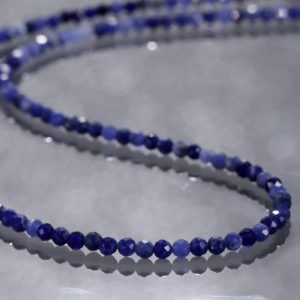 Shop Sodalite Necklaces! Sodalite Necklace Natural Sodalite Gemstone Necklace Sodalite Jewelry Blue Stone Necklace Gift For Mom Birthday Gift Anniversary Gift | Natural genuine Sodalite necklaces. Buy crystal jewelry, handmade handcrafted artisan jewelry for women.  Unique handmade gift ideas. #jewelry #beadednecklaces #beadedjewelry #gift #shopping #handmadejewelry #fashion #style #product #necklaces #affiliate #ad