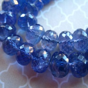 5-100 Pcs, Tanzanite Rondelles Beads Gemstone Rondelle / Luxe Aaaa, 5-6 Mm, Faceted, Periwinkle Blue / December Birthstone Brides Bridal 56 | Natural genuine faceted Tanzanite beads for beading and jewelry making.  #jewelry #beads #beadedjewelry #diyjewelry #jewelrymaking #beadstore #beading #affiliate #ad