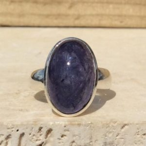 Shop Tanzanite Rings! Tanzanite Silver Ring, Blue Oval Stone Ring, Silver Gemstone Ring for Men or Women, Solitaire Ring, Mens Silver Ring | Natural genuine Tanzanite mens fashion rings, simple unique handcrafted gemstone men's rings, gifts for men. Anillos hombre. #rings #jewelry #crystaljewelry #gemstonejewelry #handmadejewelry #affiliate #ad
