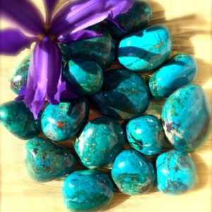 Shop Tumbled Chrysocolla Crystals & Pocket Stones! Tumbled Chrysocolla, Premium Quality, Full Moon Charged, Pagan Altar, Meditation, Chakra, Reiki, Crystal Grid, Magic, Spell, Use with Tarot! | Natural genuine stones & crystals in various shapes & sizes. Buy raw cut, tumbled, or polished gemstones for making jewelry or crystal healing energy vibration raising reiki stones. #crystals #gemstones #crystalhealing #crystalsandgemstones #energyhealing #affiliate #ad