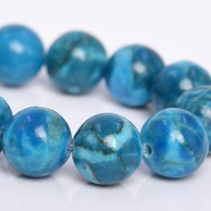 "Shop Turquoise Round Beads! 8MM Blue Turquoise Beads Grade A Natural Gemstone Half Strand Round Loose Beads 7.5"" BULK LOT 1,3,5,10 and 50 (104242h-1175) 
