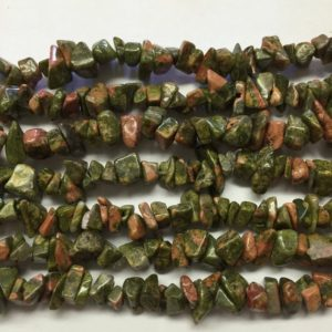 Shop Unakite Chip & Nugget Beads! Unakite 36 inch Chips Beads | Natural genuine chip Unakite beads for beading and jewelry making.  #jewelry #beads #beadedjewelry #diyjewelry #jewelrymaking #beadstore #beading #affiliate #ad